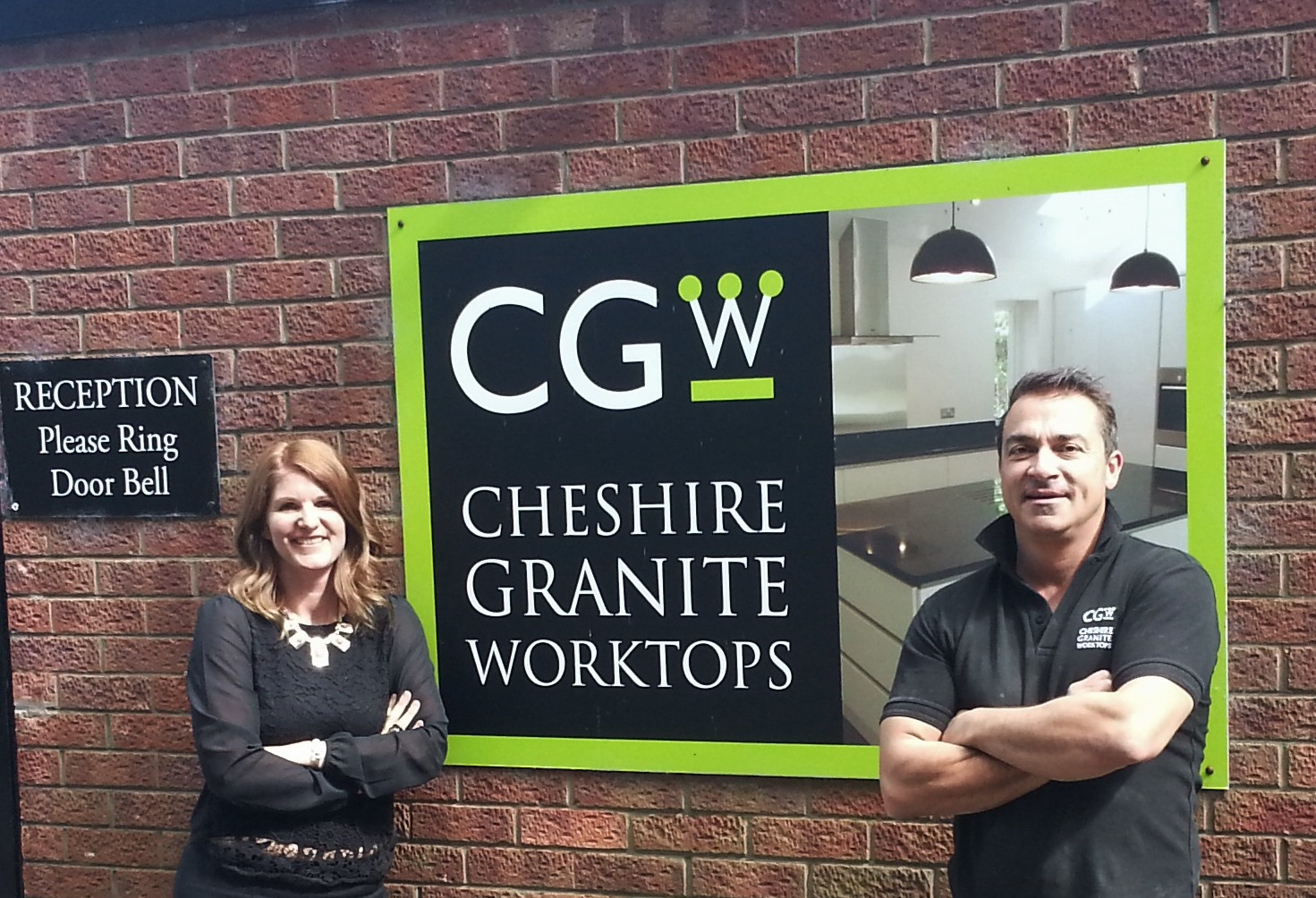 Donna and Darren at Cheshire Granite Worktops