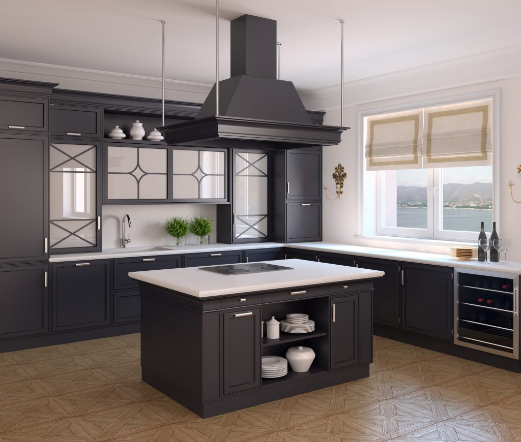 Images Of Black Kitchen Cabinets: Traditional Style Kitchen Design With A Modern Twist